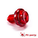 Flipper Knopf (Transparent) - 1-1/8 Schaft Transparent rot