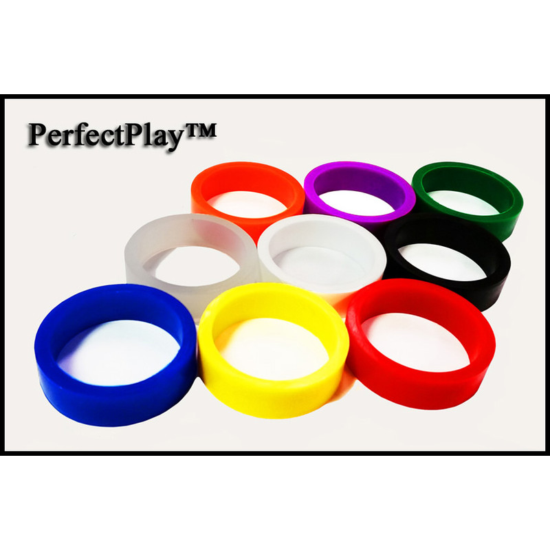 Set of 4 PerfectPlay Red Silicone Leg Leveler Protectors