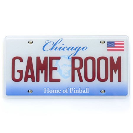 Schild Chicago Game Room - Home of Pinball