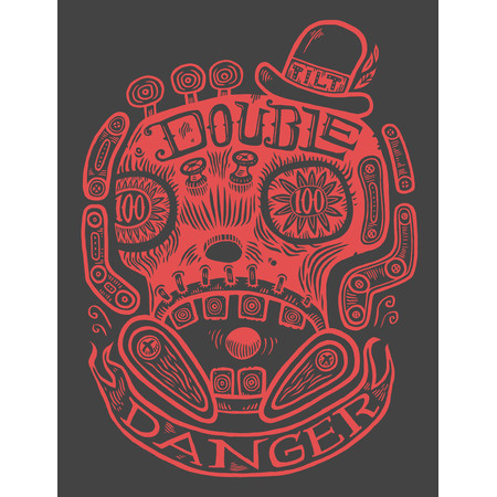 Tim Lee Double Danger Skull Kapuzenpullover M