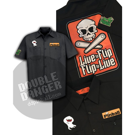 Double Danger/Spooky Pinball - Work Shirt L
