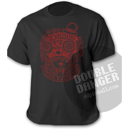 Tim Lee Double Danger Skull - T-Shirt