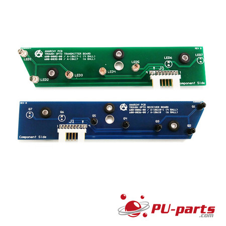 Trough Opto Transmitter/Receiver Board Set (4 Ball) For Williams/Bally